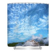 Castle Geyser Yellowstone Np Photo Painting_grk7577_05262018 Shower Curtain