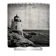 Castle Hill In Black And White Shower Curtain