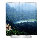 Castle Hohenschwangau 2 Shower Curtain