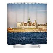 Castle In Helsingor Denmark Shower Curtain