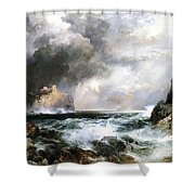 Castle In Scotland Shower Curtain by Thomas Moran