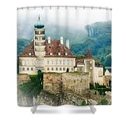 Castle In The Mist Shower Curtain