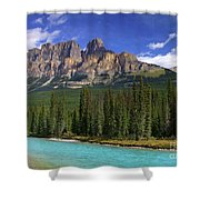 Castle Mountain Banff The Canadian Rockies Shower Curtain