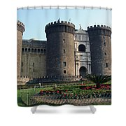 Castle Nuovo Naples Italy Shower Curtain
