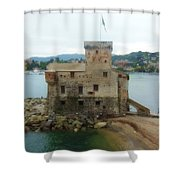 Castle Of Rapallo Shower Curtain