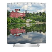 Castle On The Lake Shower Curtain