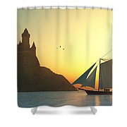 Castle On The Sea Shower Curtain