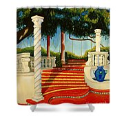 Castle Patio 3 Shower Curtain