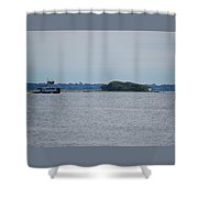 Castle Pinckney And Boat Shower Curtain