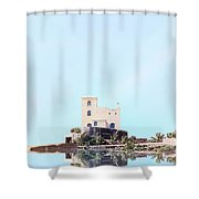 Castle Reflection Shower Curtain