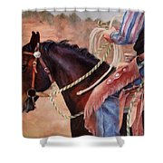 Castle Rock Buckaroo Western Cowboy Painting Shower Curtain