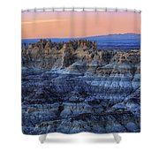 Castle Rock Sunset Shower Curtain