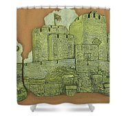 Castle Rushen Shower Curtain
