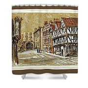 Castle Square Lincoln Shower Curtain