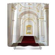 Castle Stairwell Shower Curtain