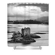 Castle Stalker - D002192bw Shower Curtain
