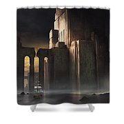 Castle Sunset Shower Curtain
