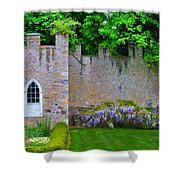 Castle Wall At The Highlands Shower Curtain