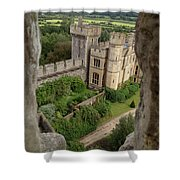Castle Within A Frame Shower Curtain