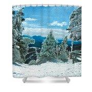 Castlerock Run Shower Curtain