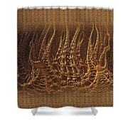 Castles In Decay Shower Curtain