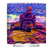 Castles In The Sand Cs-1a Shower Curtain