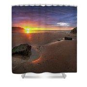 Caswell Bay Sunrise Shower Curtain