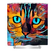 Cat 10 Shower Curtain