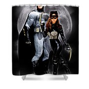 Cat And Bat Shower Curtain