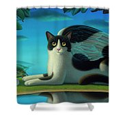 Cat And Mouse 2 Shower Curtain