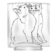 Cat-art-curious Shower Curtain