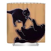 Cat Attack 4  Shower Curtain