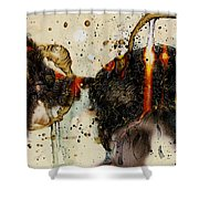 Cat Butt Shower Curtain by Grebo Gray