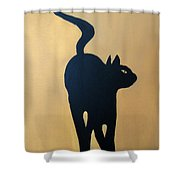 Cat Dance..... Optical Illusion Shower Curtain