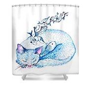 Cat Dreams Shower Curtain