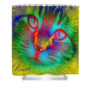 Cat Fluorescent Shower Curtain