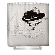 Snow White Wearing A Hat Shower Curtain