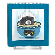 Cat In Food Shower Curtain