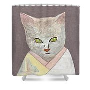 Cat In Kimono Shower Curtain