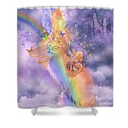 Cat In The Dreaming Hat Shower Curtain