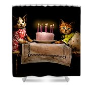 Cat - It's Our Birthday - 1914 Shower Curtain