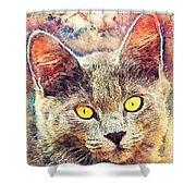 Cat Kiara Shower Curtain