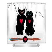 Cat Love Shower Curtain