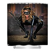 Cat On The Prowl Shower Curtain