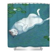 Cat On Vacation Shower Curtain