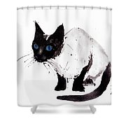 Cat Painting Shower Curtain