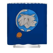 Cat Planet Shower Curtain