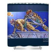 Cat Warriors Shower Curtain