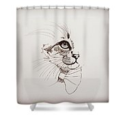 Cat Wearing A Bow Tie Shower Curtain