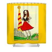 Catalancilla Shower Curtain